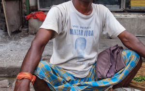 Man Wearing A Lungi