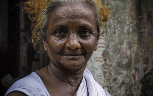 Moon Face Of An Older Woman