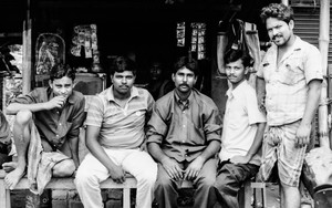 Five Men At A Chai Stand