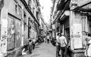 Tranquil Street Between Buildings