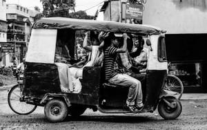 Loaded Auto Rickshaw