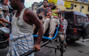 Family On A Rickshaw