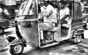 Speeding Auto Rickshaw