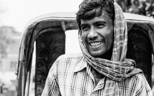Smiling Rickshaw Wallah