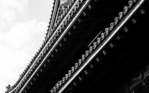 松江城の屋根