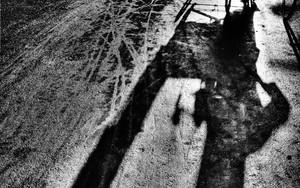 Long Shadow Of A Cycle Rickshaw