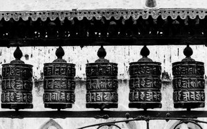 Prayer Wheels In Swayambhunath