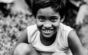 Bashful Smile Of A Boy