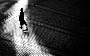 Silhouette In The Square