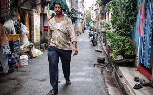 Man Walking The Lane Doggedly