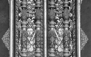 Decorative Window Of A Temple