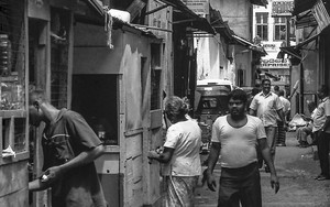 People In Narrow Street