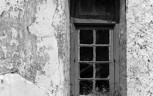 Window On The Dilapidated Wall