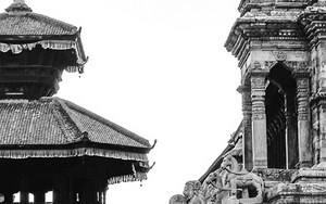 石像と寺院