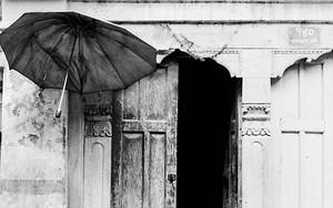 玄関先のふたつの傘
