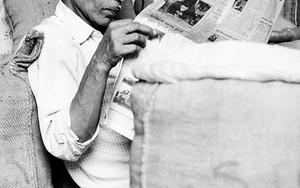 麻袋と眼鏡と新聞