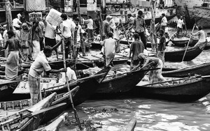 Crowded Wharf In Sadarghat