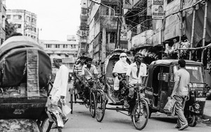 Cycle Rickshaws And An Auto Rickshaw