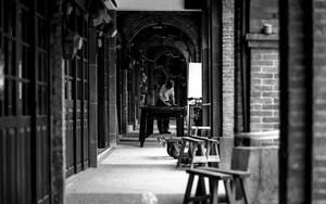 Man Working In The Passageway