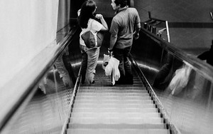 Couple On The Escalator