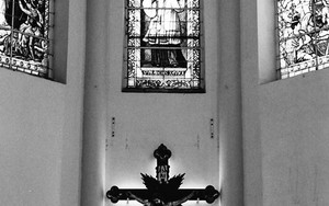 Cross And Stained-glass Window