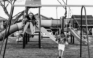 Two Girls On The Swing