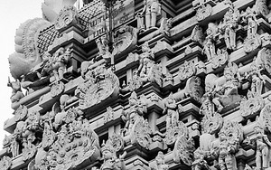 Tower Of A Hindu Temple