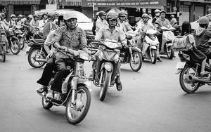 大量のバイク
