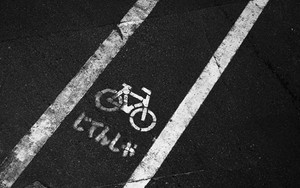 Signs Of Bicycles On Bike Lanes