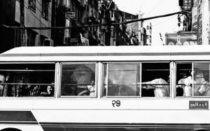 路線バスの窓