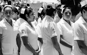 Nurses Wearing A Nurse's Cap