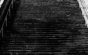 Long Stairway In Suwa Jinja