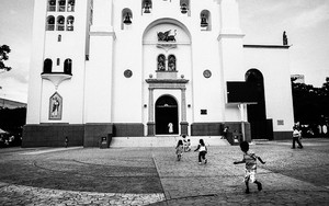 Children Playing In Front Of Saint Mark Cathedral