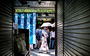 Umbrella And Kimono