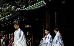 Shinto Priest And Priestesses