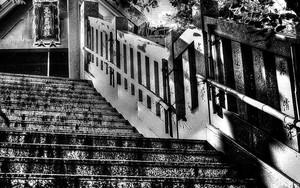 元三島神社の階段