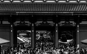 浅草寺の人混み