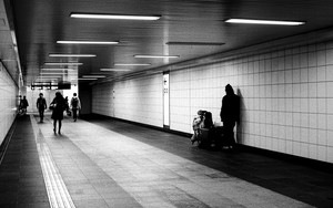 Figures In An Underground Passage