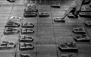 将棋の駒と指
