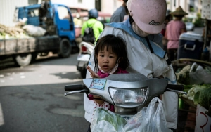 Little Girl On A Scooter