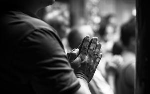 参拝客の手