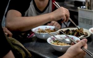 Bowls, A Plate And Chopsticks