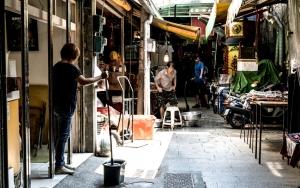 水仙宮市場の路地