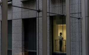Man In Office Building