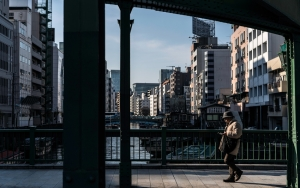 Hatted Man On The Bridge