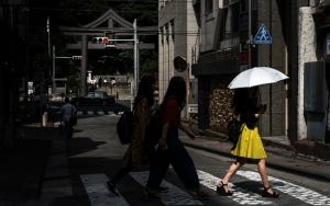 Yellow Skirt And White Umbrella