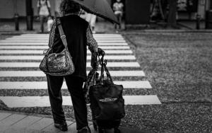 Older Woman Crossing
