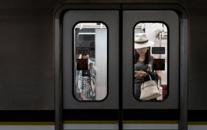 Woman In A Train Car