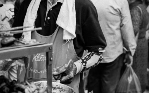 Man Cooking In A Food Stall