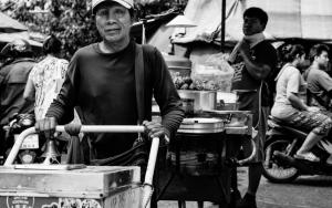 Ice Cream Vendor In Market